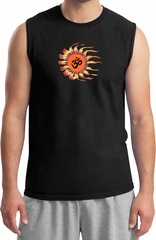 Mens Yoga Shirt Ohm Sun Muscle Tee T-Shirt