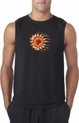 Mens Yoga Shirt Ohm Sun Sleeveless Tee T-Shirt