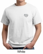 Mens Yoga Shirt OM Heart Pocket Print Organic Tee T-Shirt