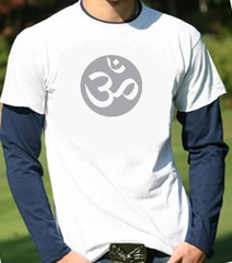 Mens Yoga Shirt – Om Symbol Adult Shirt in Shirt Long Sleeve Shirt