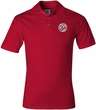 Mens Yoga Shirt – Om Symbol Small Print Adult Polo Shirt