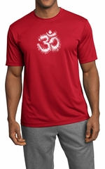 Mens Yoga Shirt OM Tie Dye Moisture Wicking Tee T-Shirt