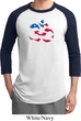 Mens Yoga Shirt Patriotic Om Raglan Tee T-Shirt