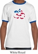 Mens Yoga Shirt Patriotic Om Ringer Tee T-Shirt