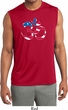 Mens Yoga Shirt Patriotic Om Sleeveless Moisture Wicking Tee