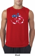 Mens Yoga Shirt Patriotic Om Sleeveless Tee T-Shirt