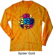 Mens Yoga Shirt Pop Art Om Long Sleeve Tie Dye Tee T-shirt