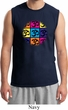 Mens Yoga Shirt Pop Art Om Muscle Tee T-Shirt