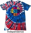 Mens Yoga Shirt Pop Art Om Patriotic Tie Dye Tee T-shirt