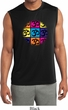 Mens Yoga Shirt Pop Art Om Sleeveless Moisture Wicking Tee
