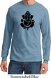 Mens Yoga Shirt Shadow Ganesha Long Sleeve Tee T-Shirt