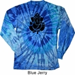 Mens Yoga Shirt Shadow Ganesha Long Sleeve Tie Dye Tee T-shirt