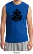 Mens Yoga Shirt Shadow Ganesha Muscle Tee T-Shirt