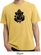 Mens Yoga Shirt Shadow Ganesha Pigment Dyed Tee T-Shirt