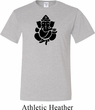 Mens Yoga Shirt Shadow Ganesha Tall Tee T-Shirt