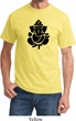 Mens Yoga Shirt Shadow Ganesha Tee T-Shirt