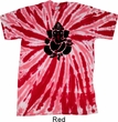 Mens Yoga Shirt Shadow Ganesha Twist Tie Dye Tee T-shirt