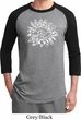 Mens Yoga Shirt Sketch Lotus Raglan Tee T-Shirt
