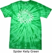 Mens Yoga Shirt Sketch Lotus Spider Tie Dye Tee T-shirt