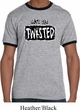 Mens Yoga Shirt Twisted Ringer Tee T-Shirt