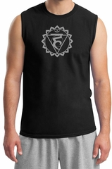 Mens Yoga Shirt Vishuddha Chakra Meditation Muscle Shirt