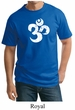 Mens Yoga Shirt White Distressed OM Tall Tee T-Shirt