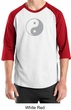 Mens Yoga Shirt Yin Yang Big Print Meditation Raglan Shirt