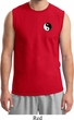Mens Yoga Shirt Yin Yang Patch Pocket Print Muscle Tee T-Shirt
