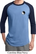Mens Yoga Shirt Yin Yang Patch Pocket Print Raglan Tee T-Shirt