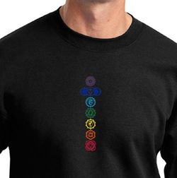 Mens Yoga Sweatshirt 7 Colored Chakras Sweat Shirt