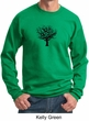 Mens Yoga Sweatshirt Black Tree of Life Sweat Shirt