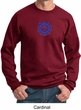 Mens Yoga Sweatshirt Floral Sahasrara Sweat Shirt