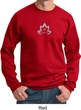 Mens Yoga Sweatshirt Grey Namaste Lotus Sweat Shirt
