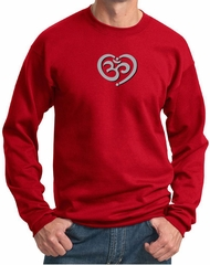 Mens Yoga Sweatshirt OM Heart Sweat Shirt