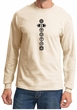Mens Yoga T-shirt 7 Chakras Black Print Long Sleeve Shirt