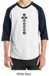 Mens Yoga T-shirt 7 Chakras Black Print Raglan Shirt