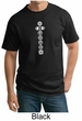 Mens Yoga T-shirt 7 Chakras White Print Tall Shirt