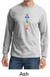Mens Yoga T-shirt 7 Colored Chakras Long Sleeve Shirt