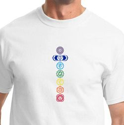Mens Yoga T-shirt 7 Colored Chakras Tee Shirt