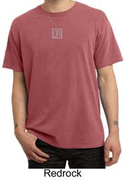 Mens Yoga T-shirt � Aum Charm Meditation Pigment Dyed Tee Shirt