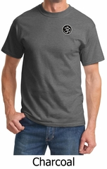 Mens Yoga T-shirt – Aum Patch Sanskrit Pocket Print Adult Tee Shirt