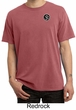 Mens Yoga T-shirt Aum Patch Sanskrit Pocket Print Pigment Dyed Shirt