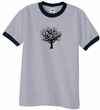 Mens Yoga T-Shirt Black Tree of Life Ringer Shirt