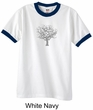 Mens Yoga T-shirt Grey Tree of Life Ringer Shirt