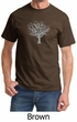 Mens Yoga T-shirt Grey Tree of Life Tee