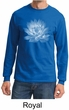 Mens Yoga T-shirt Lotus Flower Long Sleeve Shirt