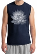 Mens Yoga T-shirt Lotus Flower Muscle Shirt