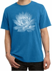 Mens Yoga T-shirt Lotus Flower Pigment Dyed Shirt