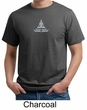 Mens Yoga T-shirt - Lotus Pose Meditation Organic Tee Shirt