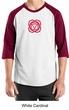 Mens Yoga T-shirt - Muladhara Root Chakra 3/4 Sleeve Raglan Shirt